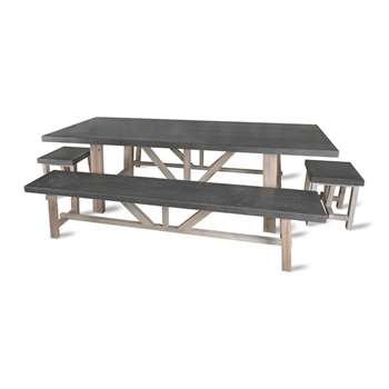 Garden Trading - Chilson Table, Bench & Stool Set (75 x 220cm)