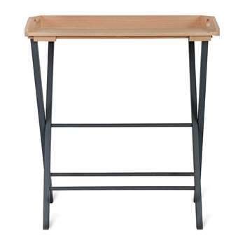 Garden Trading - Clockhouse Oak Desk Tray - Carbon (H78 x W79 x D50cm)