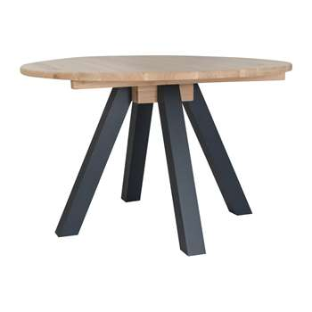 Garden Trading - Clockhouse Round Dining Table - Carbon (H75 x W120 x D120cm)