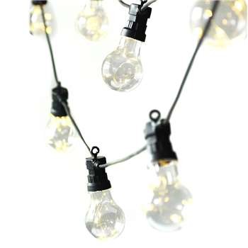 Garden Trading - Festoon String Lights - 20 Bulbs (H12 x W1250 x D6cm)