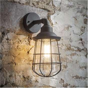 Garden Trading - Finsbury Wall Light - Charcoal (H35 x W15 x D20cm)