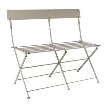 Garden Trading - Folding Bistro Bench - Clay (H81.5 x W82 x D47cm)