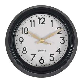 Garden Trading - Greenwich Clock - Carbon (H38 x W38 x D9.5cm)