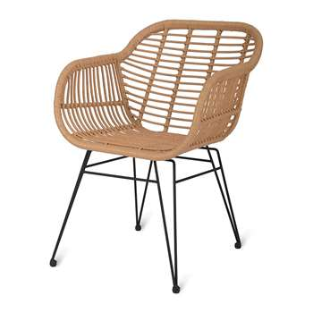 Garden Trading - Hampstead Chairs - Set of 2 (H82 x W55.5 x D57cm)