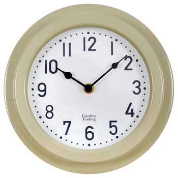 Garden Trading Outdoor Clock, Clay (H22 x W22 x D4.7cm)