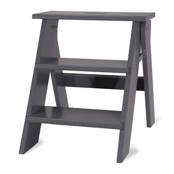 Garden Trading - Step Stool - Charcoal (H46.5 x W42 x D60cm)