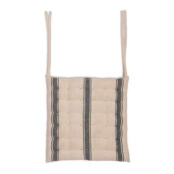 Garden Trading - Stripe Seat Pad - Charcoal (H40 x W40 x D3cm)
