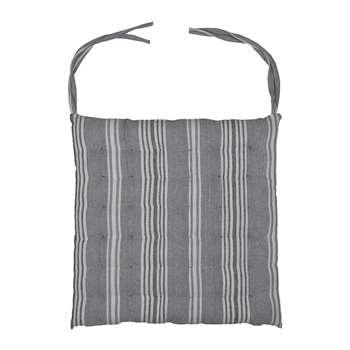 Garden Trading - Stripe Seat Pad - Earl Grey (H40 x W40 x D3cm)