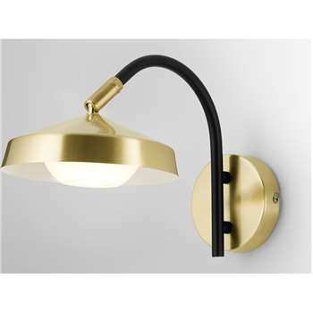 Garnaas LED Wall Lamp, Brass (H19.5 x W28 x D10cm)