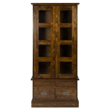 Garrat Chestnut 2 Door 4 Drawer Display Cabinet (183 x 87cm)