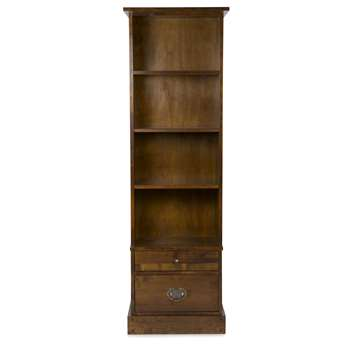 Garrat Chestnut 2 Drawer Bookcase (183 x 58cm)