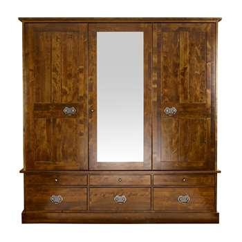 Garrat Chestnut 3 Door Wardrobe (H190 x W185 x D60cm)