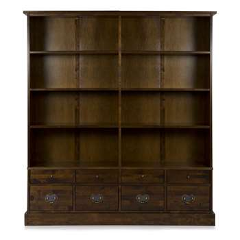 Garrat Chestnut 8 Drawer Bookcase (183 x 166cm)