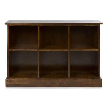 Garrat Chestnut Low Bookcase (85 x 131cm)