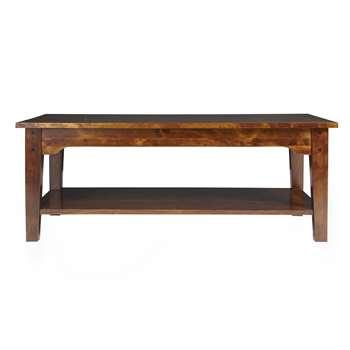 Garrat Chestnut Rectangular Coffee Table 45 x 118cm