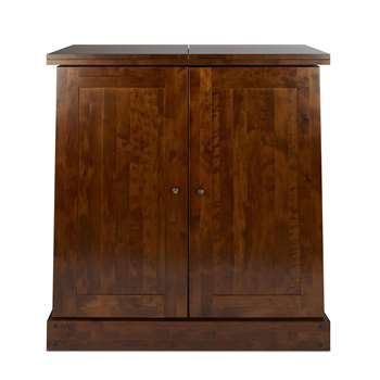 Garrat Dark Chestnut Drinks Cabinet (107 x 98cm)