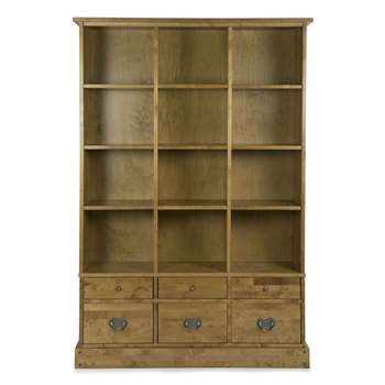 Garrat Honey 6 Drawer Bookcase (183 x 127cm)