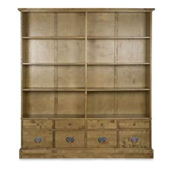 Garrat Honey 8 Drawer Bookcase (183 x 166cm)