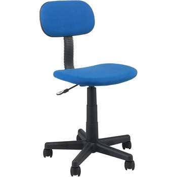 Gas Lift Height Adjustable Office Chair - Blue (89 x 43cm)