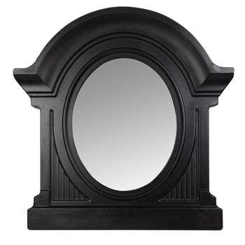 GASTON Black Metal Trumeau Mirror (H80 x W82 x D10cm)
