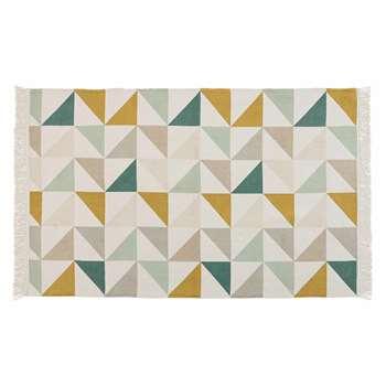 GASTON cotton rug with triangle motifs (H120 x W180cm)