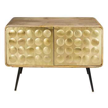 GATSBY 2-door dresser in gold-effect metal (H81 x W117 x D45cm)