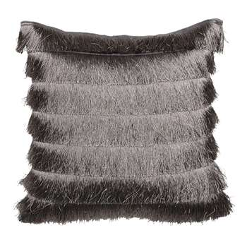 Gatsby Grey Fringed Cushion (H43 x W43cm)
