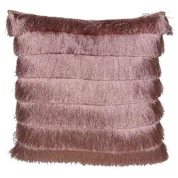 Gatsby Pink Fringed Cushion (H43 x W43cm)