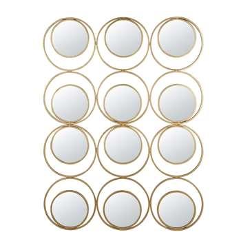 GATSBY - Round Golden Metal Mirrors (H140 x W105 x D2cm)