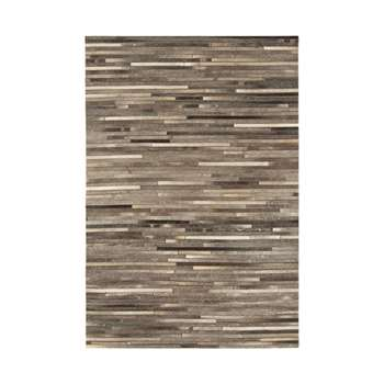 Gaucho rug dark grey stripe large (160 x 230cm)