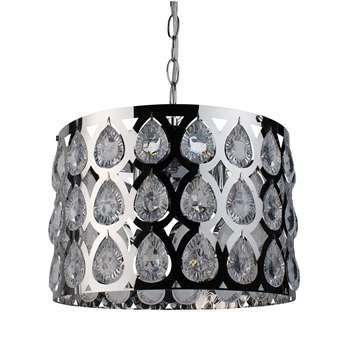 Gautier 3 Light Ceiling Light Polished Chrome (H95 x W30 x D30cm)