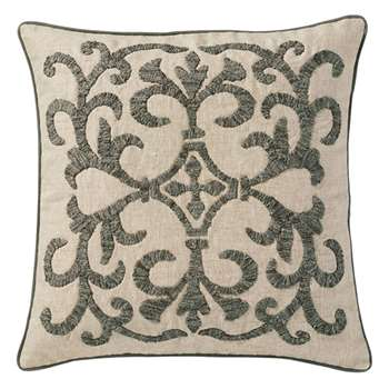 Gawain Cushion Cover, Large - Natural/Grey (51 x 51cm)
