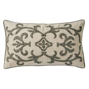 Gawain Cushion Cover, Small - Natural/Grey (35 x 60cm)