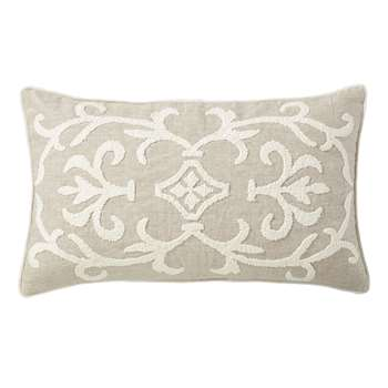 Gawain Cushion Cover, Small - Natural/Off-White (35 x 60cm)