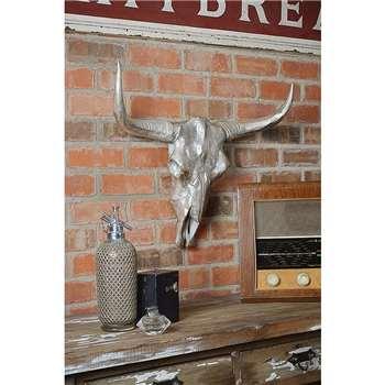Gazelle Wall Mounted Decor in cast aluminium (60 x 70cm)