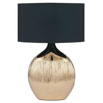 Gemini Table Lamp Gold (H44.5 x W32 x D18cm)