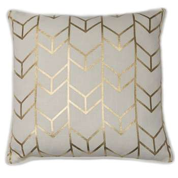 Geometric Chevron Metallic Cushion (H45 x W45cm)