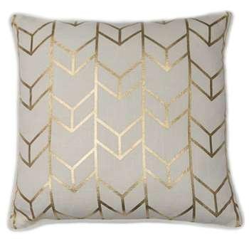 Geometric Chevron Metallic Cushion (H45 x W45cm)