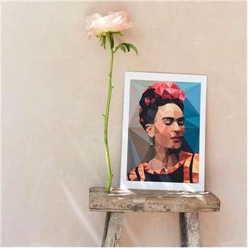 Geometric Frida Print (H42 x W29.5cm)