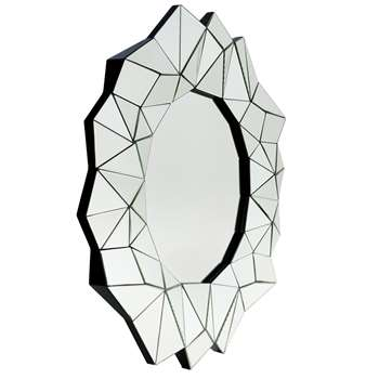 Geometric wall mirror (Diameter 92cm)