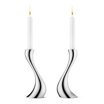 Georg Jensen - Cobra Candle Holder - Medium - Set of 2 (H20 x W8 X D9cm)