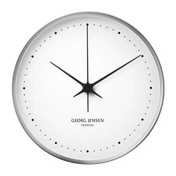 Georg Jensen - Henning Koppel Clock - White/Stainless Steel (H30 x W30cm)