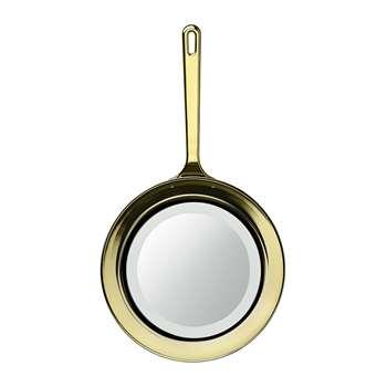 GHIDINI 1961 - Frying Pan Mirror - Gold (H82 x W45 x D8cm)