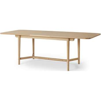 Gideon Shaker 8-10 Seat Extending Dining Table, Washed Oak (H75 x W180-230 x D90cm)