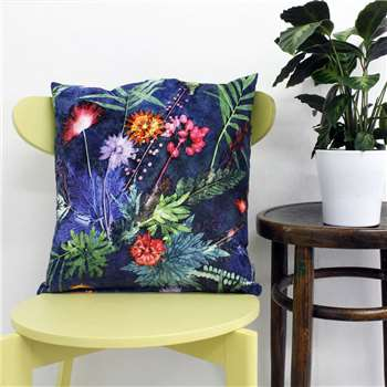 Gillian Arnold Bold Tropical Botanical Print Scatter And Floor Cushion (45 x 45cm)