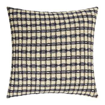 Gingerlily - St Mawes Silk Cushion Cover - Check (H50 x W50cm)