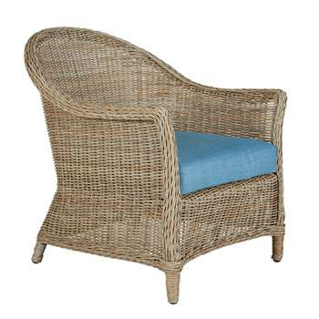 Girona Armchair - Blue Cushion (83 x 77cm)