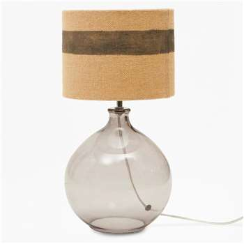 Glass Bubble Lamp - Charcoal Grey (H43 x W22 x D22cm)