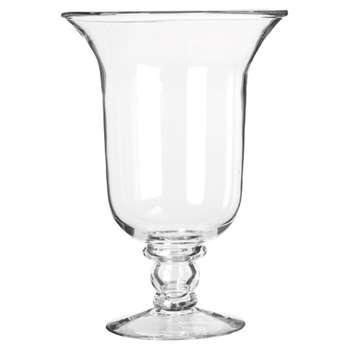 Glass Hurricane Lamp, Large - Clear (41 x 27cm)