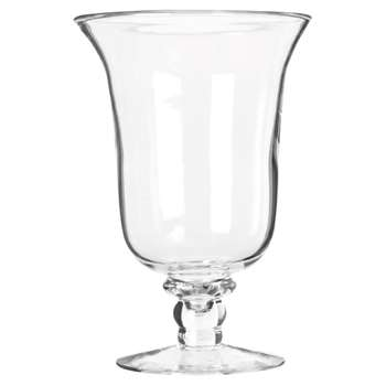 Glass Hurricane Lamp, Medium - Clear (30 x 20cm)